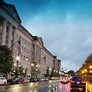 District of Columbia in the Rain by Valeria Lee