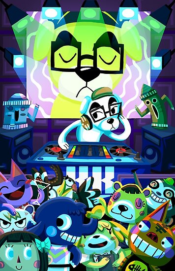 Quot Dj Kk Animal Crossing Quot Poster By Lilufo Redbubble