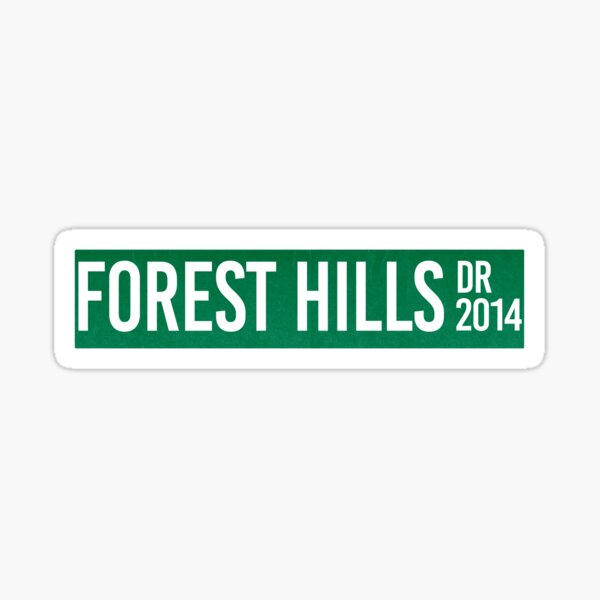 J. Cole Forest Hills Drive Cole World Rap Sticker
