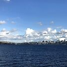 Blue Skies on the Seattle Ferry by rachro