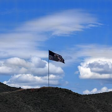 Flag on hill by jbailey325