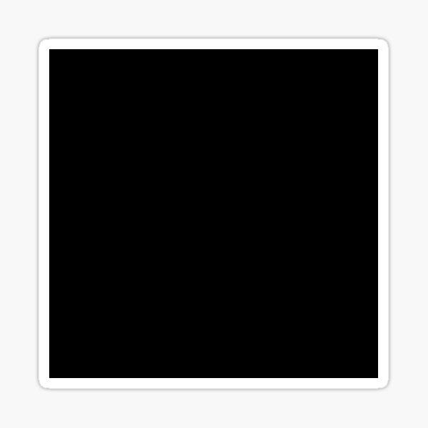 Plain Deep Dark Black Solid Color Sticker