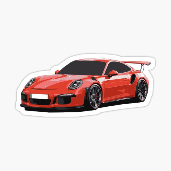 911 GT3 RS Art Sticker