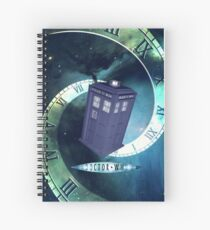 Dr. Who/TARDIS collage Spiral Notebook
