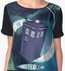 Dr. Who/TARDIS collage Chiffon Top