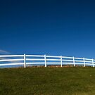 White Fence and Blue sky by deeshivan