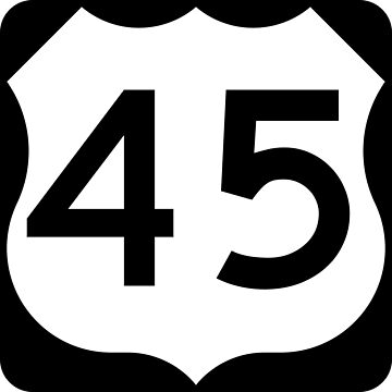 US Highway Route 45 by Joeybab3