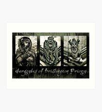 Gargoyles of Bridlington Priory  Art Print