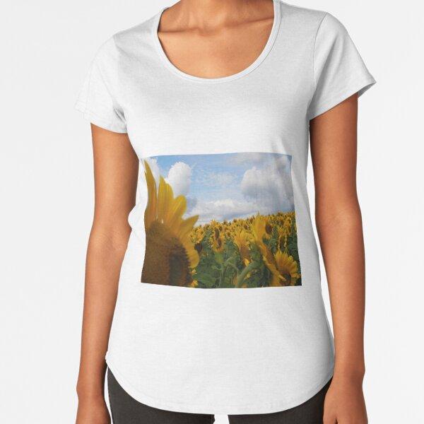 Sunflower Garden Premium Scoop T-Shirt