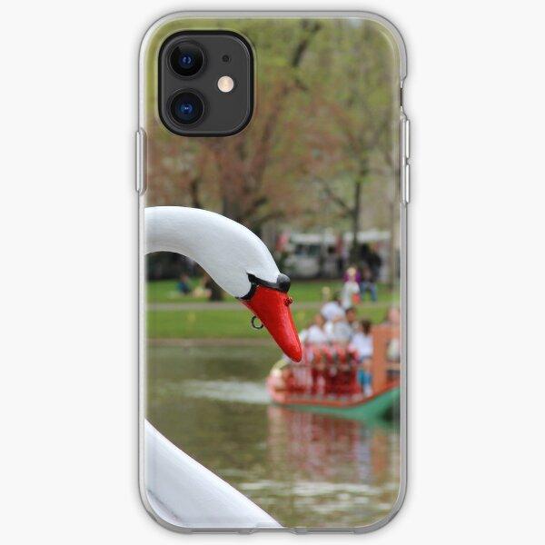 Boston Public Garden Swan Boats iPhone Soft Case