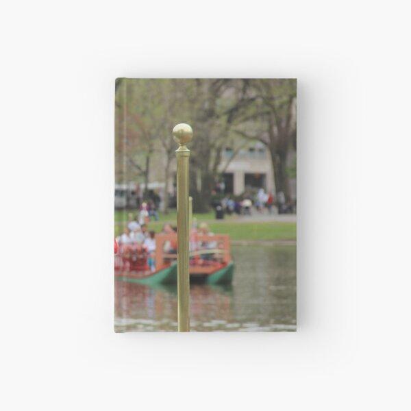 Boston Public Garden Swan Boats Hardcover Journal