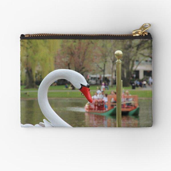 Boston Public Garden Swan Boats Zipper Pouch