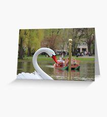 Boston Public Garden Swan Boats Greeting Card