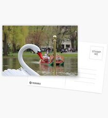 Boston Public Garden Swan Boats Postcards