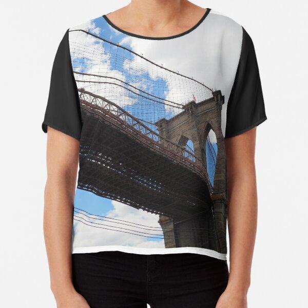 Brooklyn Bridge from DUMBO Chiffon Top