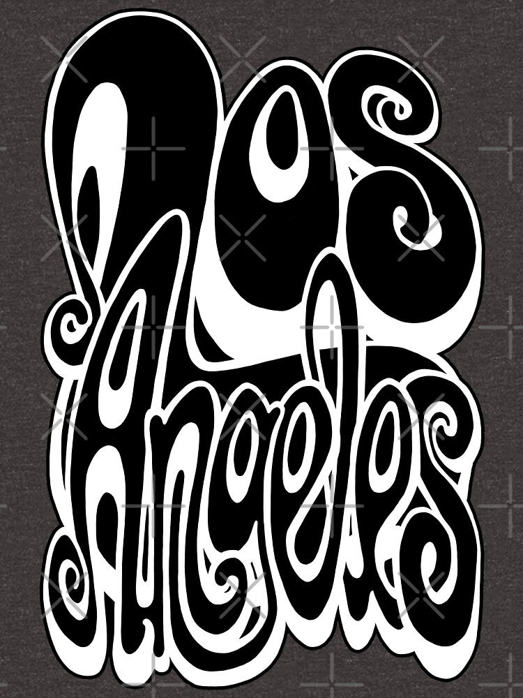 Los Angeles lettering art - black and white by bignose1977