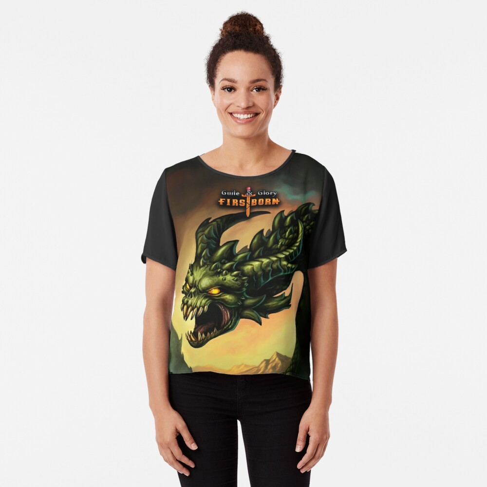 Guile & Glory: Firstborn - Wyrm (with title) Chiffon Top