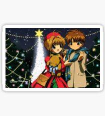 Sakura Syaoran Christmas Sticker