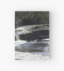 Waterfall on the moon Hardcover Journal