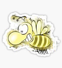 Bee honey glowing Art Sticker