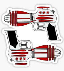 Retro Space Ray Guns by Chillee Wilson Sticker