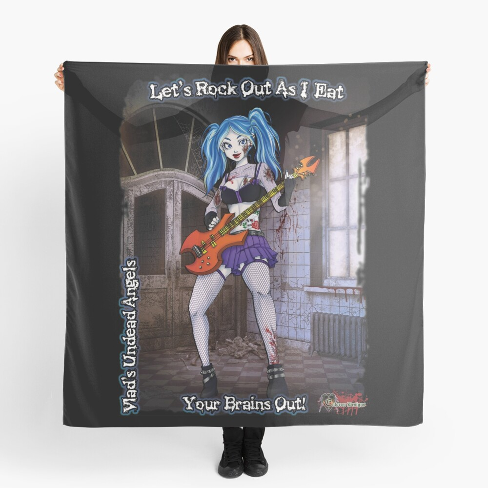 Undead Angels: Zombie Bass Guitarist Scarf