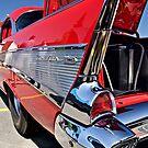 57 Bel Air Backside by Linda Bianic