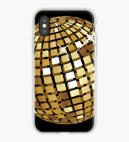 Goldene Discokugelabstraktion iPhone-Hülle & Cover