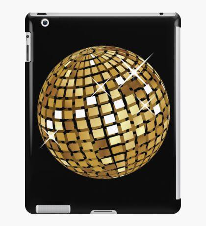 Goldene Discokugelabstraktion iPad-Hülle & Klebefolie