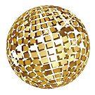 Goldene Discokugelabstraktion von AnnArtshock