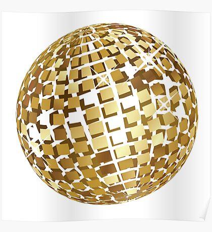 Goldene Discokugelabstraktion Poster
