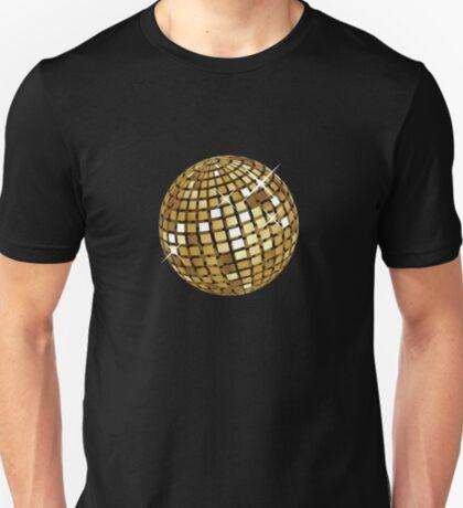 Goldene Discokugelabstraktion T-Shirt
