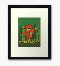 King Django Framed Art Print