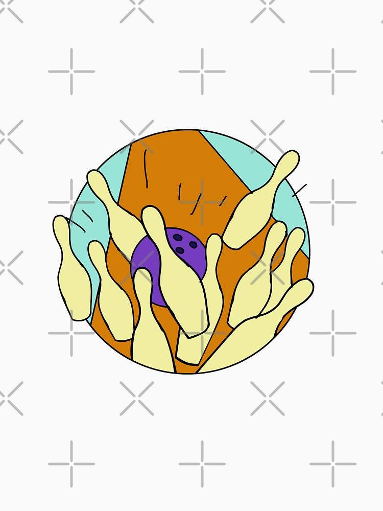 Ten Pin Bowling Strike Drawing by patrimonio