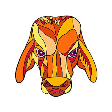 Brahma Bull Head Mosaic Color by patrimonio