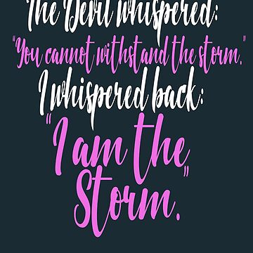 I Whispered Back I Am The Storm (blue) by cnkna