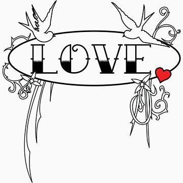 LOVE Tee by kittiemeow