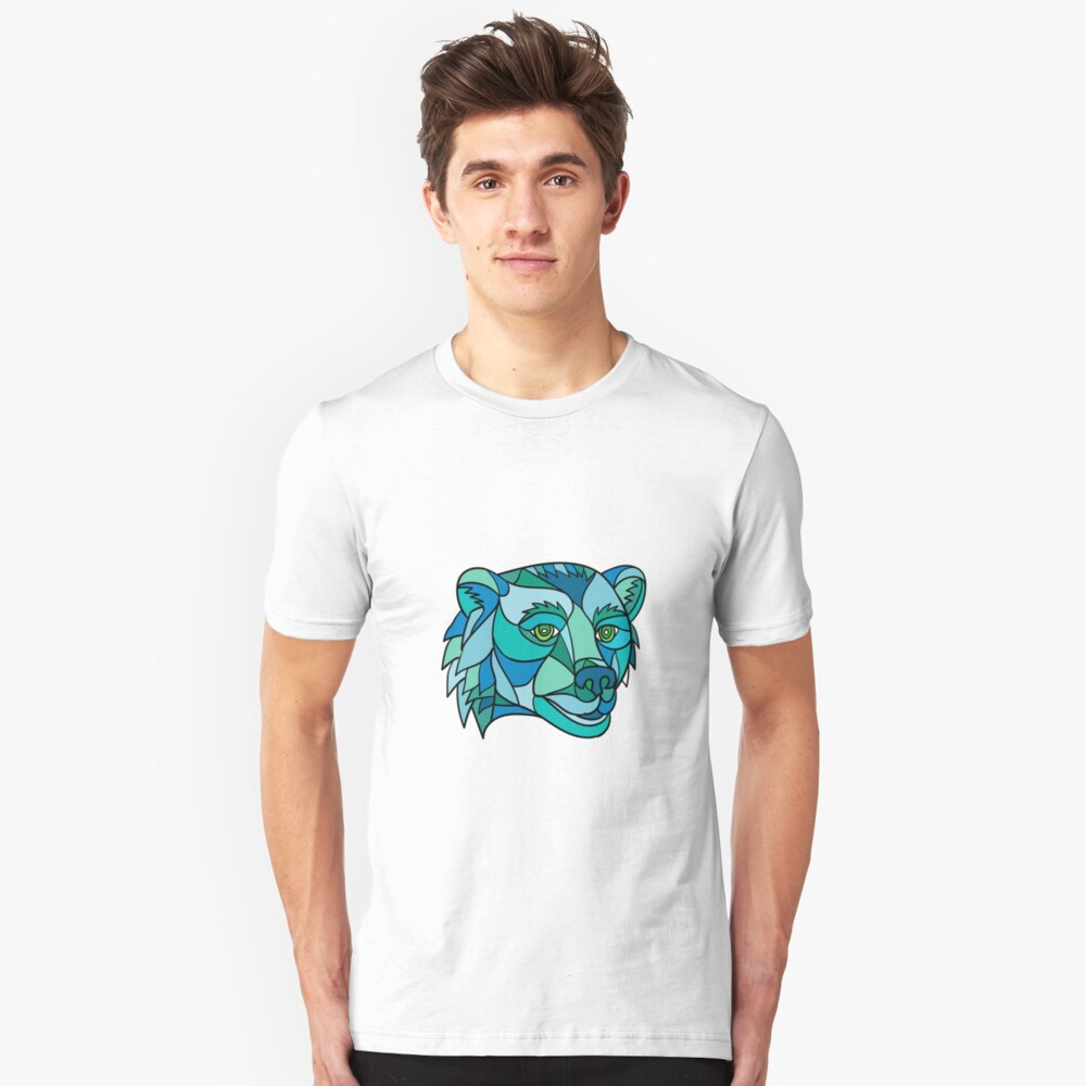 Grizzly Bear Head Mosaic Unisex T-Shirt Front
