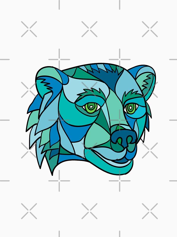 Grizzly Bear Head Mosaic by patrimonio