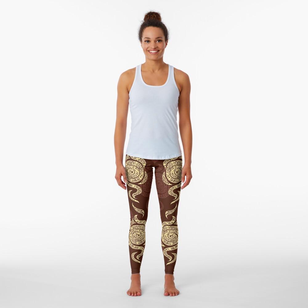 Swirl Leggings (Brown) Leggings