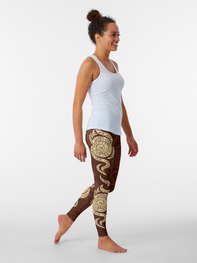 Alternate view of Swirl Leggings (Brown) Leggings