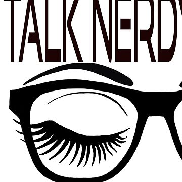 Talk Nerdy To Me Geek Glasses Winking Eye Green Shadow by Swigalicious
