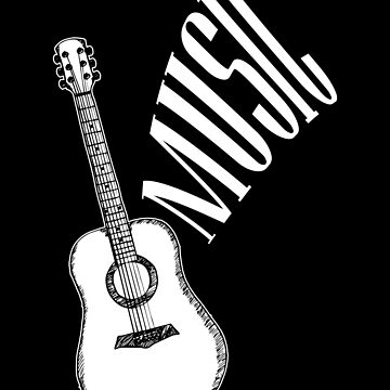 Guitar Music Apparel by MusicReadingSav