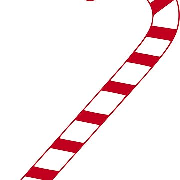 Red candy cane by MeowMusic