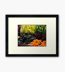 Colorful Vegetables Framed Print