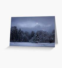Alpine Moon Rising Greeting Card