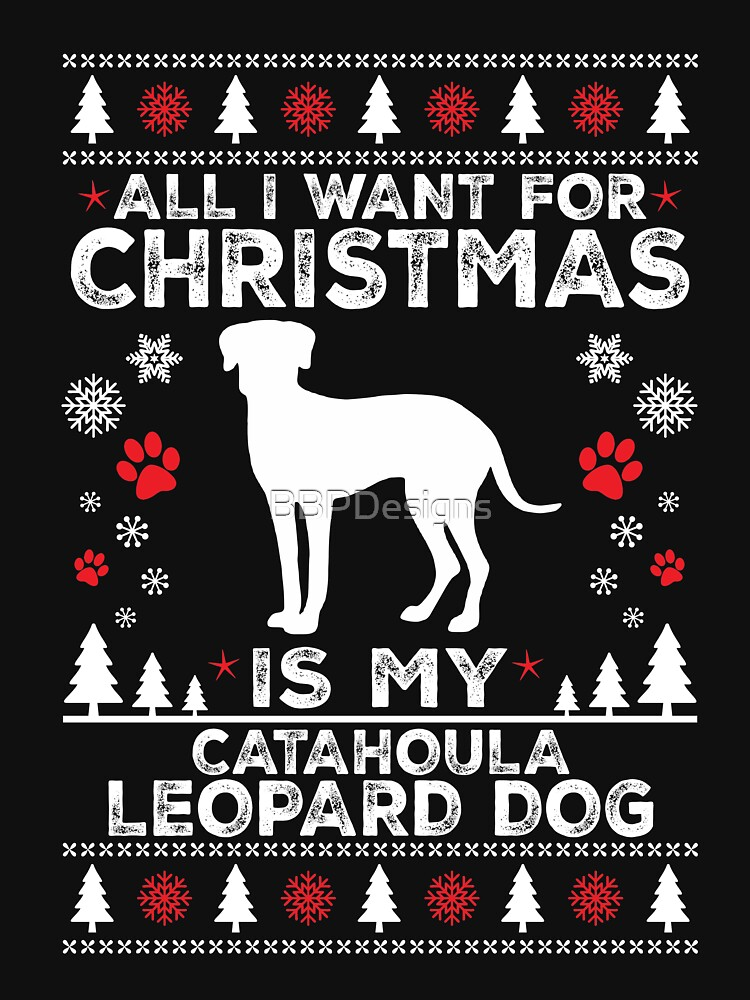 Ugly Christmas Catahoula Leopard Shirt Xmas Gift by BBPDesigns