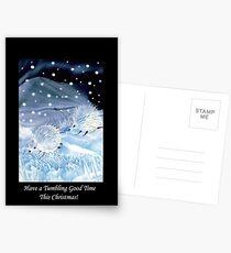 Tumbling Snowhogs! Postcards