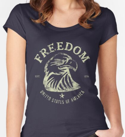 American Freedom & Bald Eagle Fitted Scoop T-Shirt