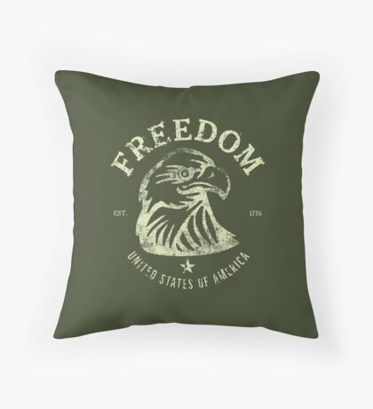 American Freedom & Bald Eagle Throw Pillow